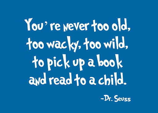 Dr. Seuss Quote About Reading to a Child